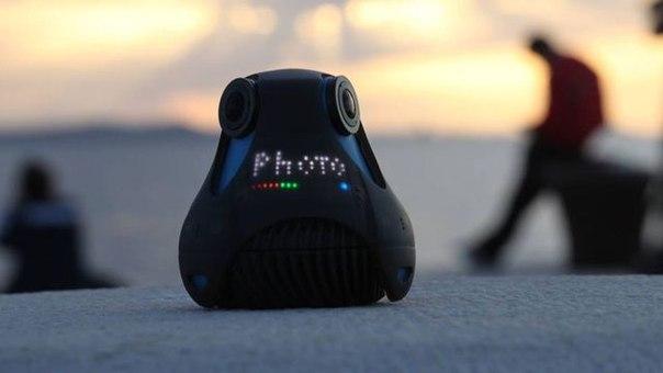 Наконец то придумали удобный дизайн. Водонепроницаемая, 360 градусов HD камера Giroptic 360Cam. 360.tv